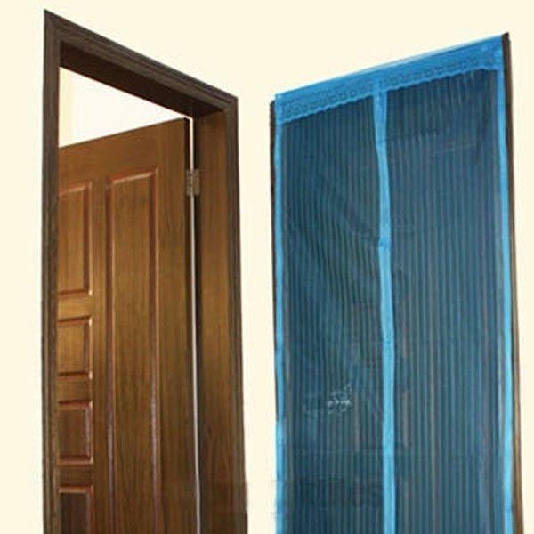 home patio door curtain mesh hands free