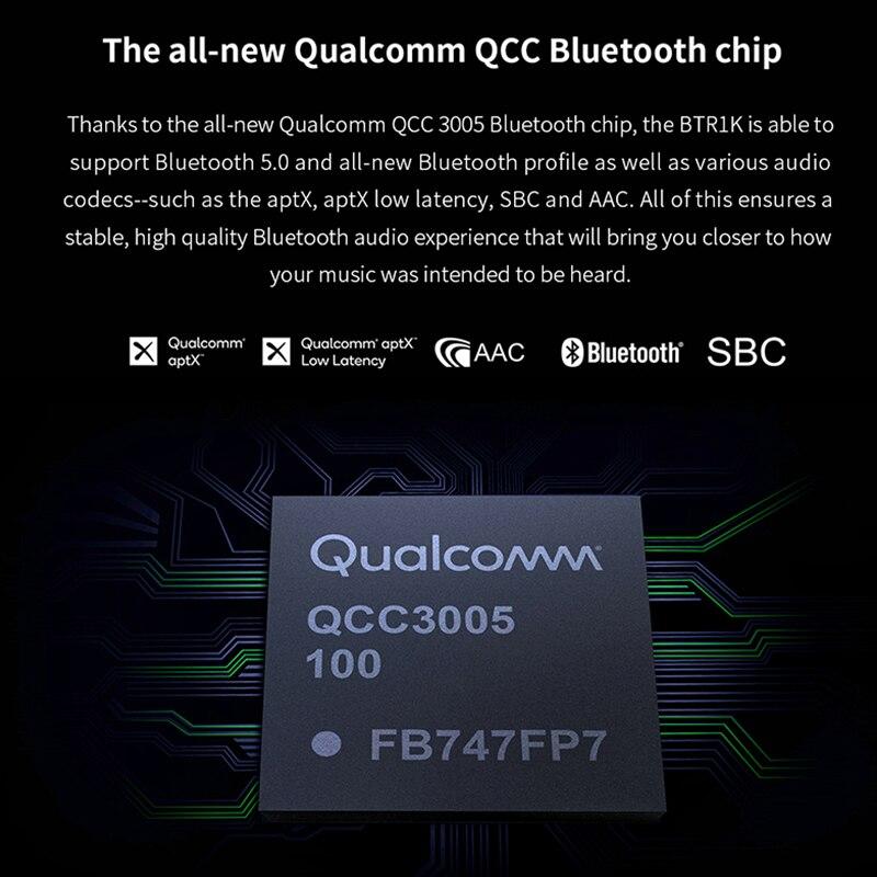 FIIO BTR1K sans fil Bluetooth 5.0 amplificateur de casque Portable réduction du bruit USB DAC récepteur Audio avec support MIC NFC - 3