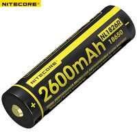 Nitecore NL1826R 2600 mAh 3,6 V Micro-USB de la batería recargable de Li-Ion de la batería 18650