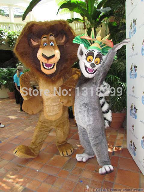 mascot lemur lion alex  mascot costume fancy dress custom fancy costume cosplay theme mascotte