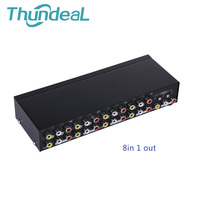 Thundeal AV Switch Box Splitter 4 In 1 Out AV Audio Video Signal Splitter Composite For