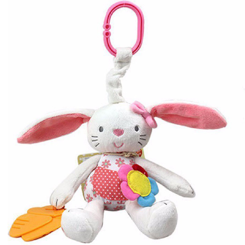 plush rabbit baby toys kids bed bells stroller hanging doll toy 0-12months baby educational rattles mobiles toys for kids gift