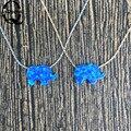 Горячие Продажи Слон Опал Ожерелье O Цепи Синтетический Опал Слон Ожерелье