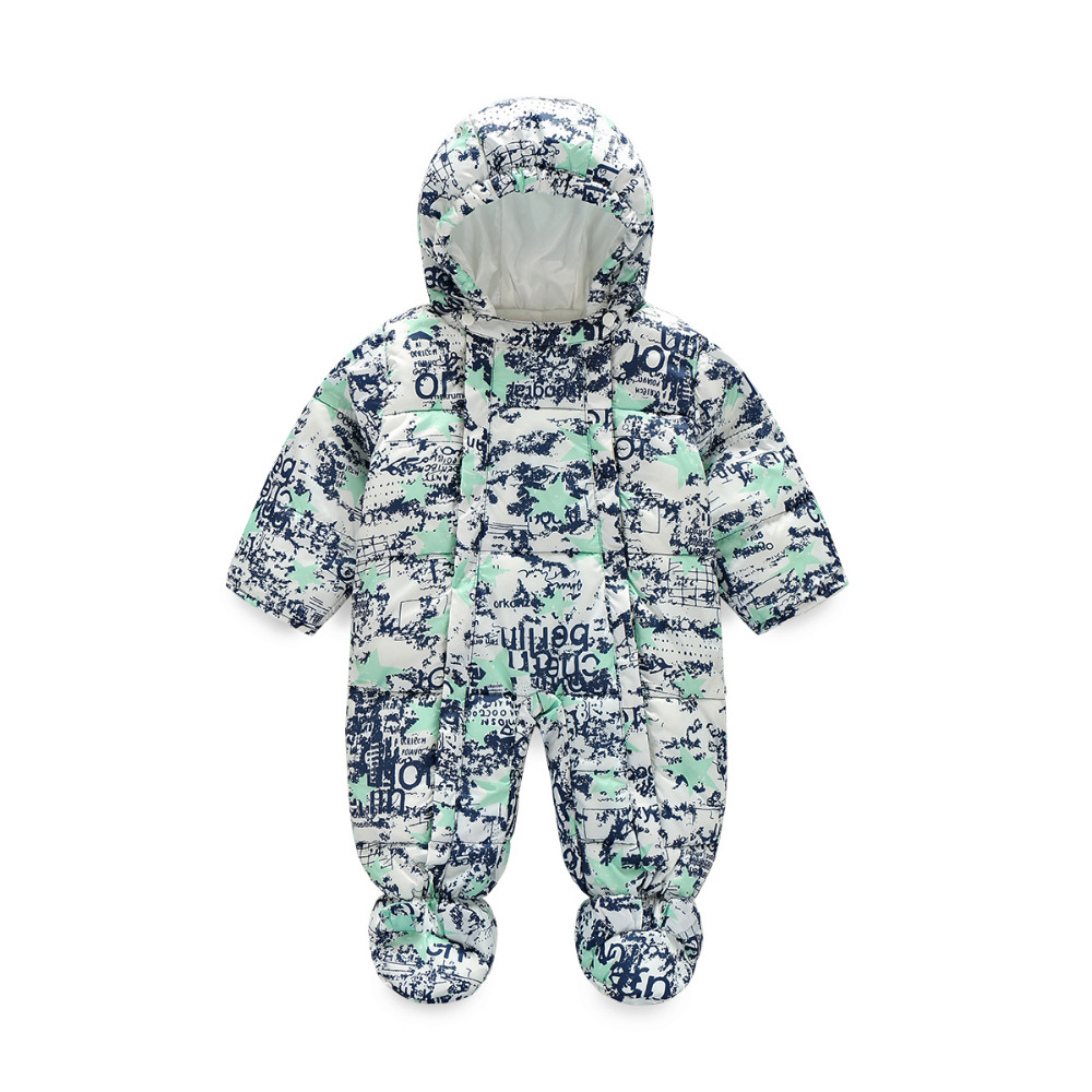ФОТО 2016 winte Kids Thick Warm Jumpsuit Children Cotton Infant Siamese clothes Newborn Baby Romper Climbing Clothing Sets Overall