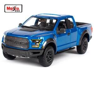 Maisto 1:24 2017 Ford Ranger F-150 pick-up model ciężarówki Diecast zabawkowy model samochodu ze stopu kolekcja samochodów dekoracje nowe pudełko 31266