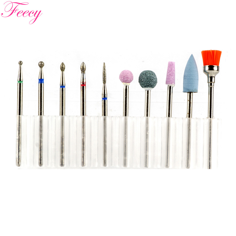 Nail Drill Bits Set Diamond Milling Cutter For Manicure Rotate Electric Burr Drills Bit Pedicure Nozzles For Manicure Machine