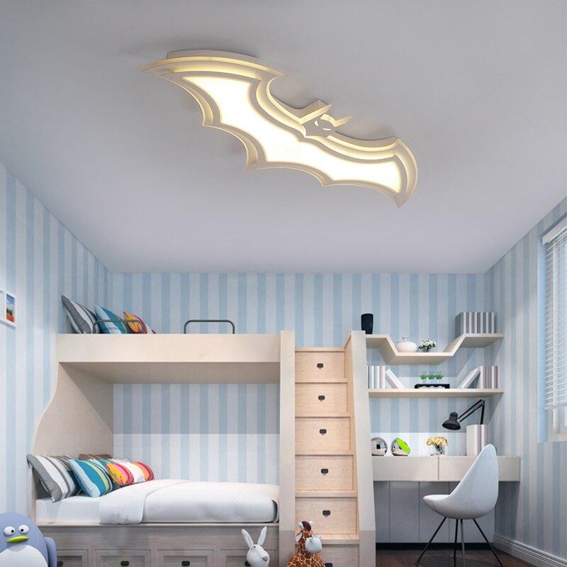 Светодиодный потолочный светильник Бэтмена для детской комнаты, спальни, балкона, дома Dec AC85 265V, акриловый современный светодиодный потолоч