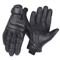 Genuine Cowhide Leather Full Finger Motorcycle Gloves Scoyco Breathable Motocross Racing Gloves Sheep Skin Moto Bike