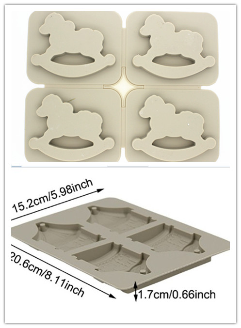 wooden horse aromatherapy gypsum mould soap candle wax moulds chip clay
