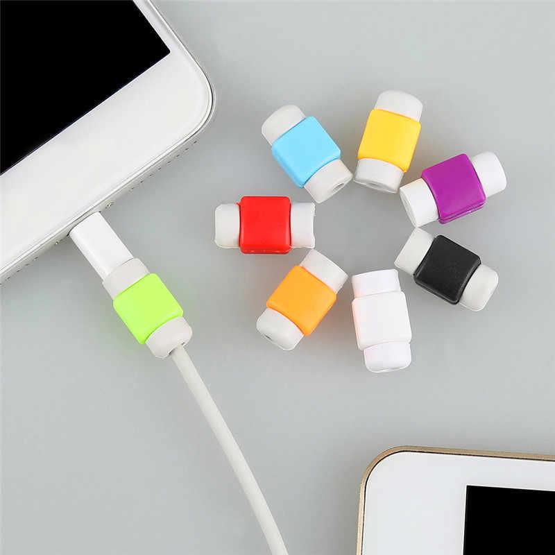 1 Chiếc Cáp USB Tấm Bảo Vệ Quản Lý Cho Iphone Cho Android Mini Dễ Thương Dây Tai Nghe Bảo Vệ Dây Dành Cho Điện Thoại Thông Minh
