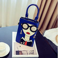 Girls Funny Mini Flap Bag Pu Leather Glasses Beauty Rivet Clutch Purse Handbag Shoulder Messenger Bag Crossbody Bag Women XA767C