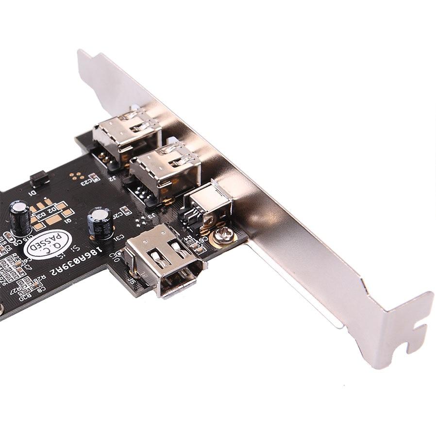 kebidumei Firewire 4 Ports IEEE 1394 4/6 Pin PCI to 1394 DV Card ...