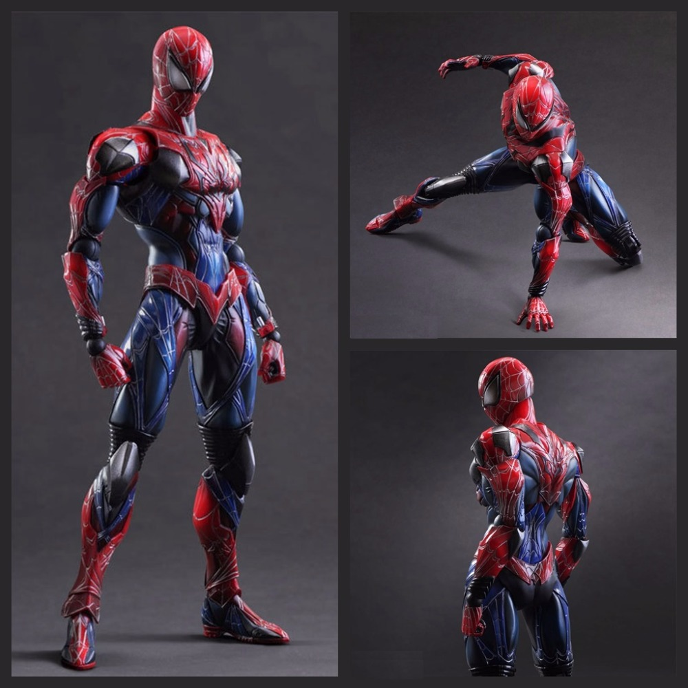 38cm Marvel The Avengers 3 Infinity War spiderman Peter Parker Play Arts Kai Spider-Man Amazing Spider Man Action Figure Toy slott dan amazing spider man volume 1 the parker luck