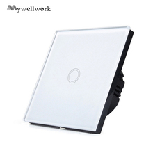 Wireless remote control switch,Crystal glass panel smart touch,White/Black/Golden Touch switch Trigger Switch