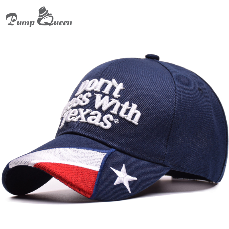 Pump Queen 2018 Summer Baseball Cap Sun Hats Don't Mess With Texas Letters Embroidery Hats Outdoor Men Women Unisex Snapback Hat