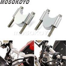 Мотоцикл с ЧПУ алюминий 7/8 «или 1 1/8» Руль управления для мм мотоциклов Riser Kit 30 мм талии 28 мм 22 мм бар зажим Honda ATV Скутер Kawasaki