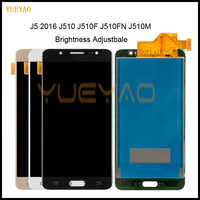 Luminosità Adjustbale A CRISTALLI LIQUIDI Per Samsung J5 2016 SM-J510F J510FN J510M J510Y J510G J510 Display LCD + Touch Screen Digitizer Assembly