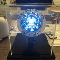 New Avengers 4 Iron Man Arc Reactor Remote Light Super Hero Iron Man DIY Parts Model Assembled Action Figure Toys For Children
