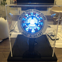 New Avengers 4 Iron Man Arc Reactor Remote Light Super Hero Iron Man DIY Parts Model Assembled Action Figure Toys For Children