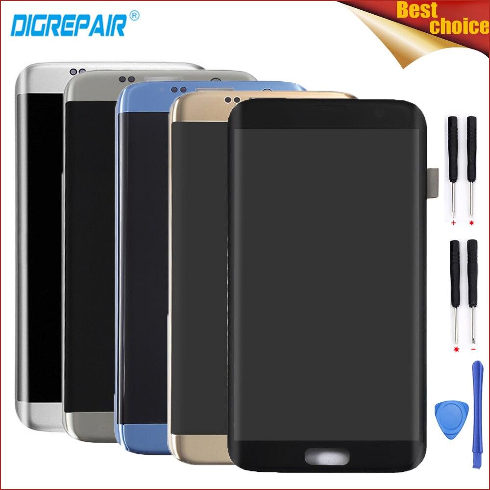 Cinq Couleurs Pour Samsung Galaxy S7 bord G935F G935T G935A G935FD Téléphone Portable Écran lcd Écran Tactile Digitizer Assemblée Pièces + outil