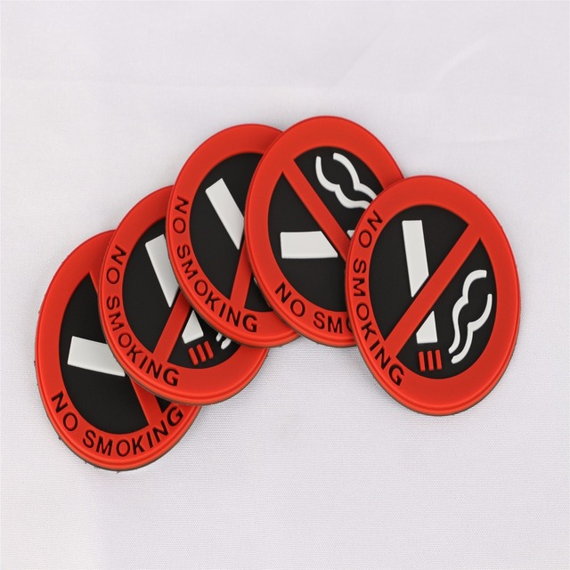 Car Styling 3d Sticker Warning No Smoking Logo Car Stickers Easy To