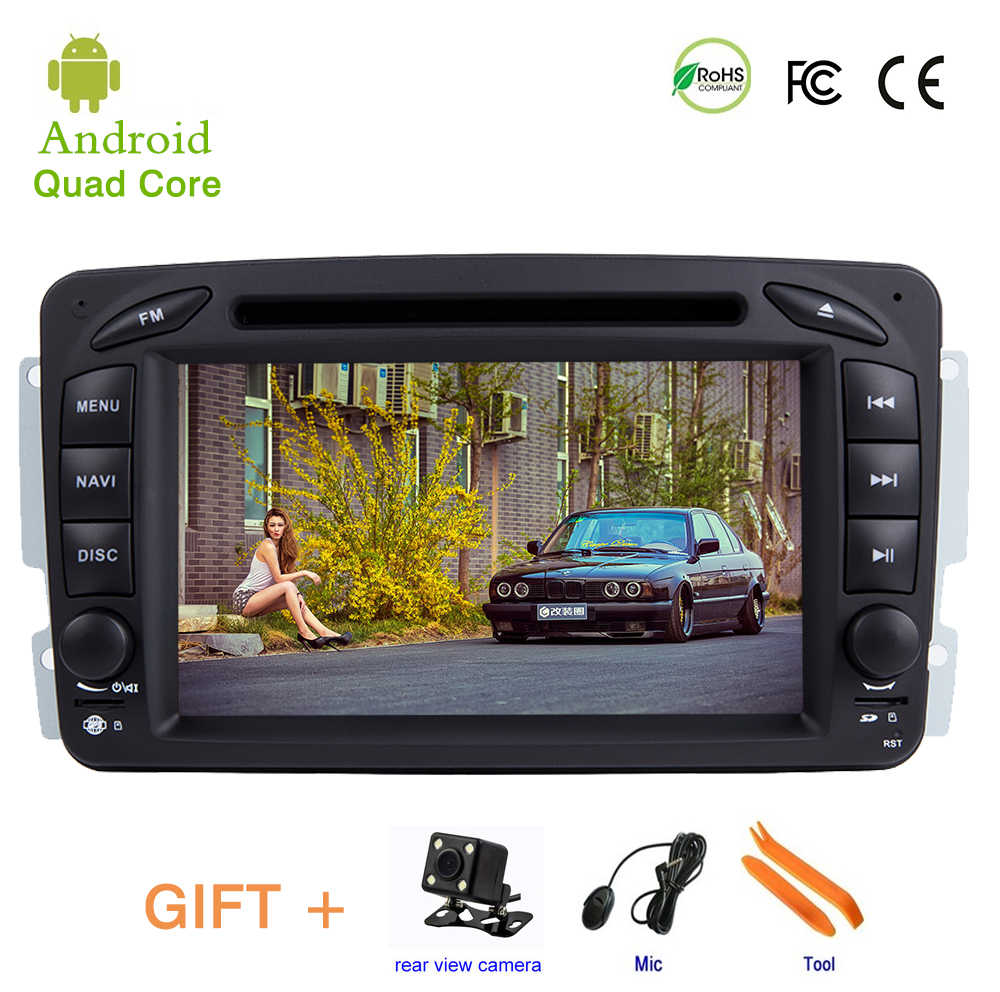 Android 9 Car DVD Player for Mercedes/Benz/W209/W203/M/ML/W163/Viano/W639/Vito,Car head Unit With WIFE BT Stereo radio GPS NAV