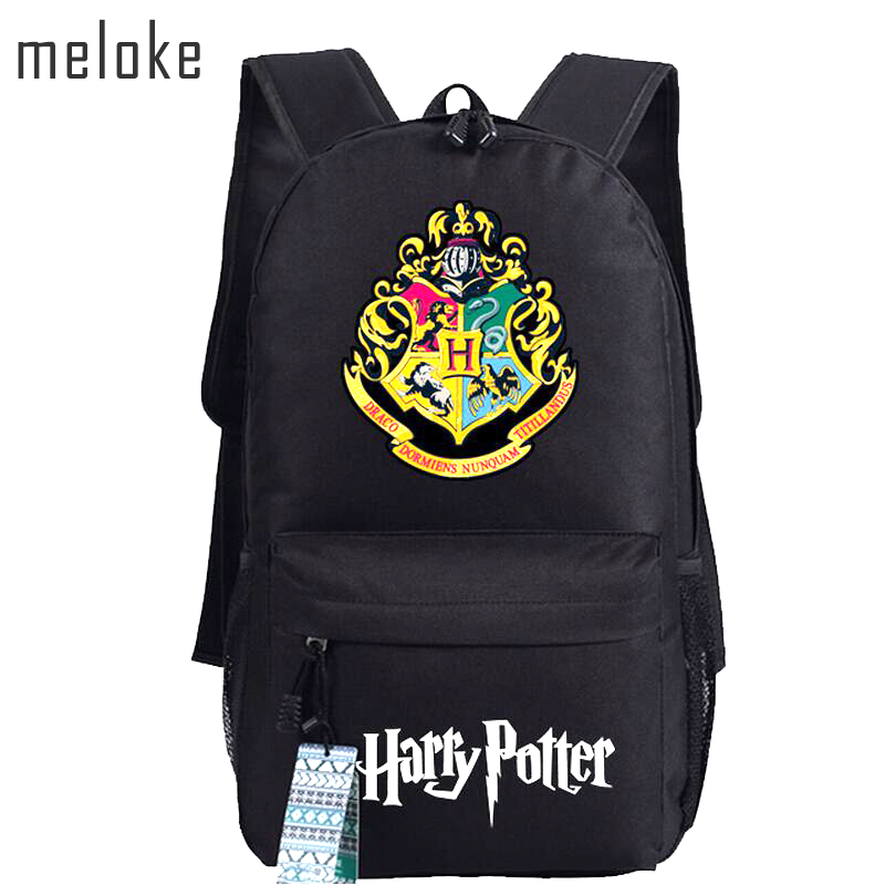 Meloke 2018 Harry Potter School Bags  Backpacks Fashion Shoulder Bag Rucksack Students Backpack Travel Bag Mochila Escolar girsl kid backpack ladies boy shoulder school student bag teenagers fashion shoulder travel college rucksack mochila escolar new