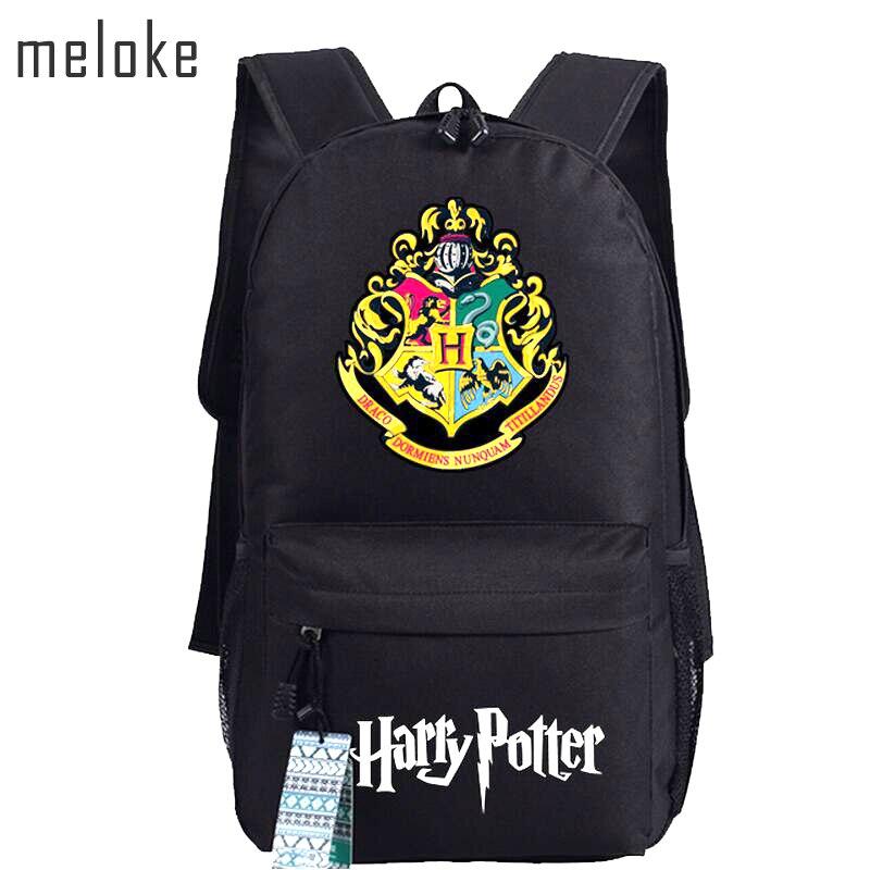 Meloke 2019 Harry Potter School Bags  Backpacks Fashion Shoulder Bag Rucksack Students Backpack Travel Bag Mochila EscolarMeloke 2019 Harry Potter School Bags  Backpacks Fashion Shoulder Bag Rucksack Students Backpack Travel Bag Mochila Escolar