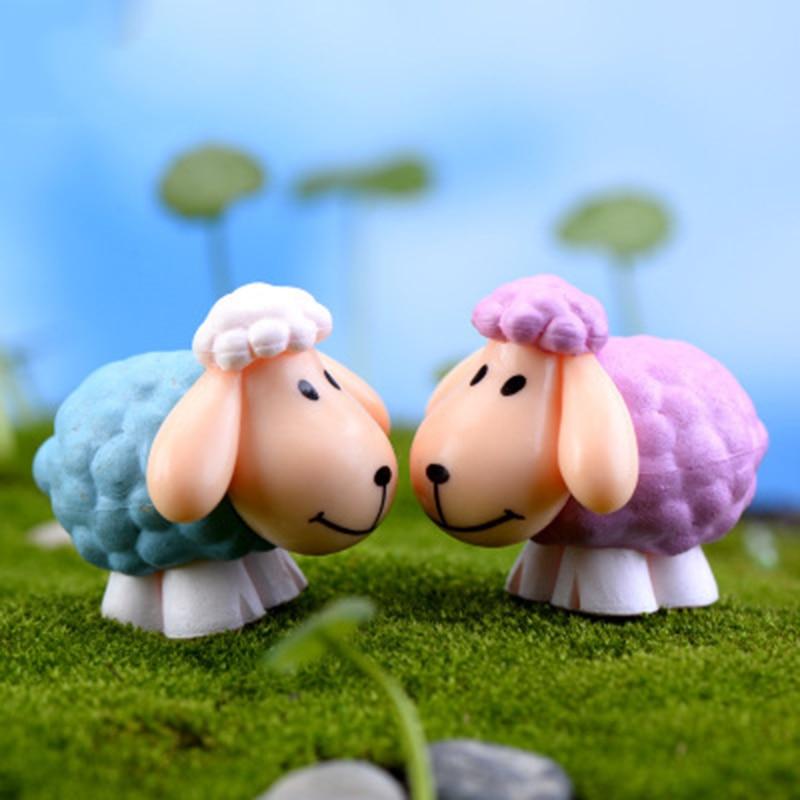 Delicate Big Ear Sheep Saudi Arabia Mutton Lamb Goat Asia Small Statue Figurine Crafts Ornament Miniatures DIY Home Decor