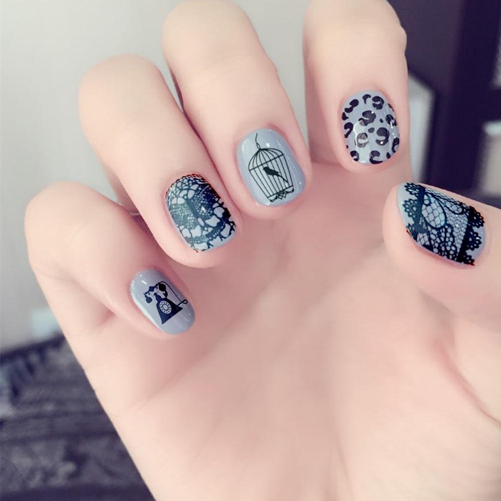 Płytki do tłoczenia paznokci Kwiat Winorośli Nail Art Stamp - Sztuka zdobienia paznokci - Zdjęcie 2