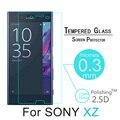 "Para sony xz 5.2 ""protetor de tela de vidro temperado 2.5d premium para sony xperia xz 9 h segurança frente película protetora + kit de limpeza"