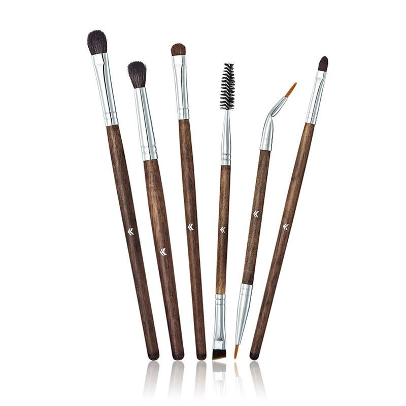 2017 New 6 PCS High-grade Professional Wool Makeup Brush Eye Shadow Eyelashes Brush Set Women Face Makeup Beauty Tools I494 six black eye makeup brush brush eye shadow brush black beauty makeup tools