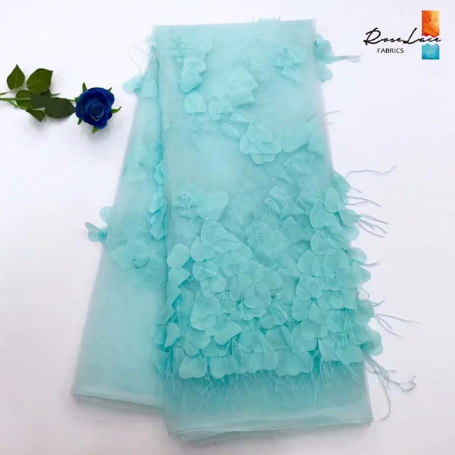 Beautiful Green Color Applique Net Lace Fabric African 3D Applique Guipure  Embroidered Mesh Tulle Lace Wedding 781f36a6a6e9