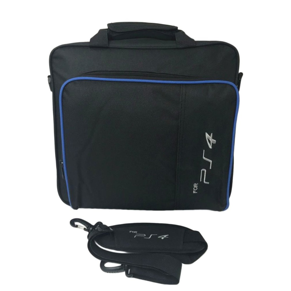 Game Console Storage Bag Shoulder Bag Travel Case Shock Proof Waterproof Carry Hand Bag for PS4 Console Accessories