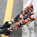 2016 New Faux Leather Leggings Sexy Fashion High-waist Stretch Material Pencil Women Leggings Sexy Leggings Women Free Size