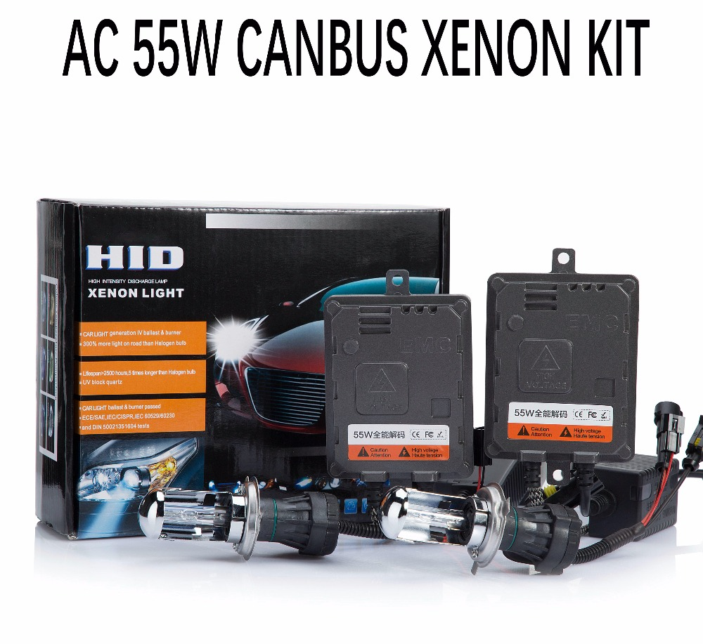 55W Xenon HID Kit Canbus Error Canceller Fast start H1 H3 H4 H7 H11 H27 9012 D2H Car Headlight Fog Light Digital Ballast Reactor цена
