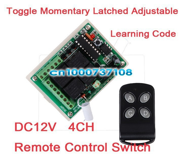 El envío libre DC12V 4 canal RF interruptor de control remoto/domótica inteligen