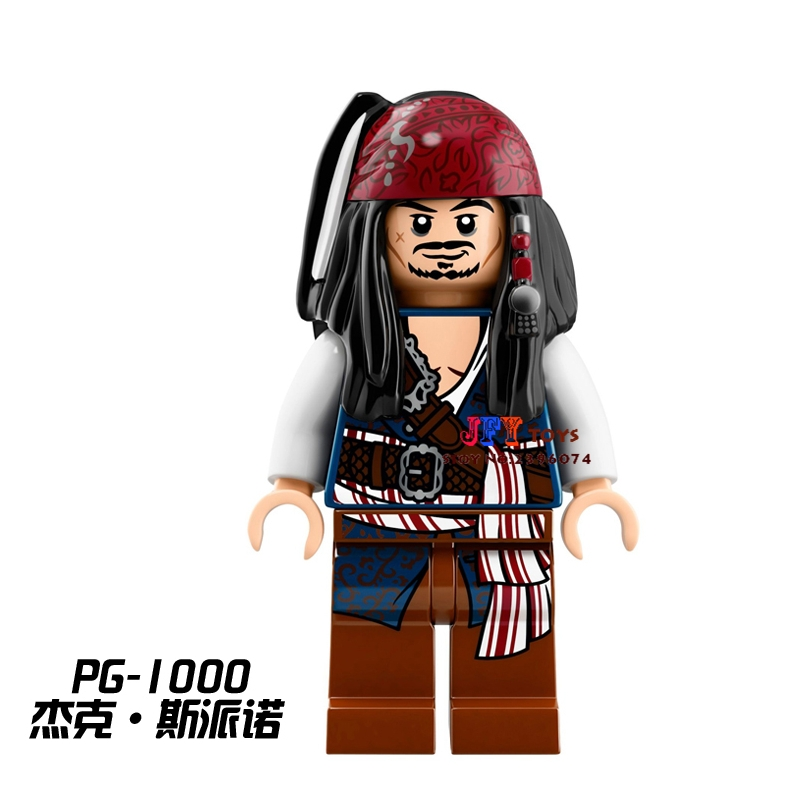 Single Pirates of the Caribbean Tales Jack Sparrow building blocks models bricks toys for children kits brinquedos menino 870pcs new pirates of the caribbean brickbeard s bounty 308 model building blocks bricks educational toys compatible with lego