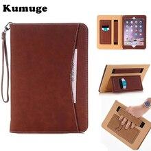 De cuero de lujo tablet case para ipad mini 123 maletín retro bolsa de mano correa de la cubierta del soporte del tirón para ipad mini4 fundas capa coque