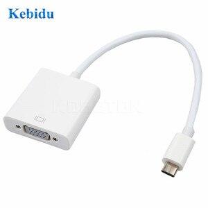 Image 2 - Kebidu Adaptador de Cable tipo C a hembra, VGA USBC, USB 3,1 a VGA, para Macbook de 12 pulgadas, Chromebook Pixel, Lumia 950XL, gran oferta