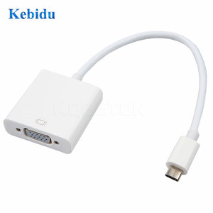 Image 2 - Kebidu Type C to Female VGA Adapter Cable USBC USB 3.1 to VGA Adapter for Macbook 12 inch Chromebook Pixel Lumia 950XL Hot Sales