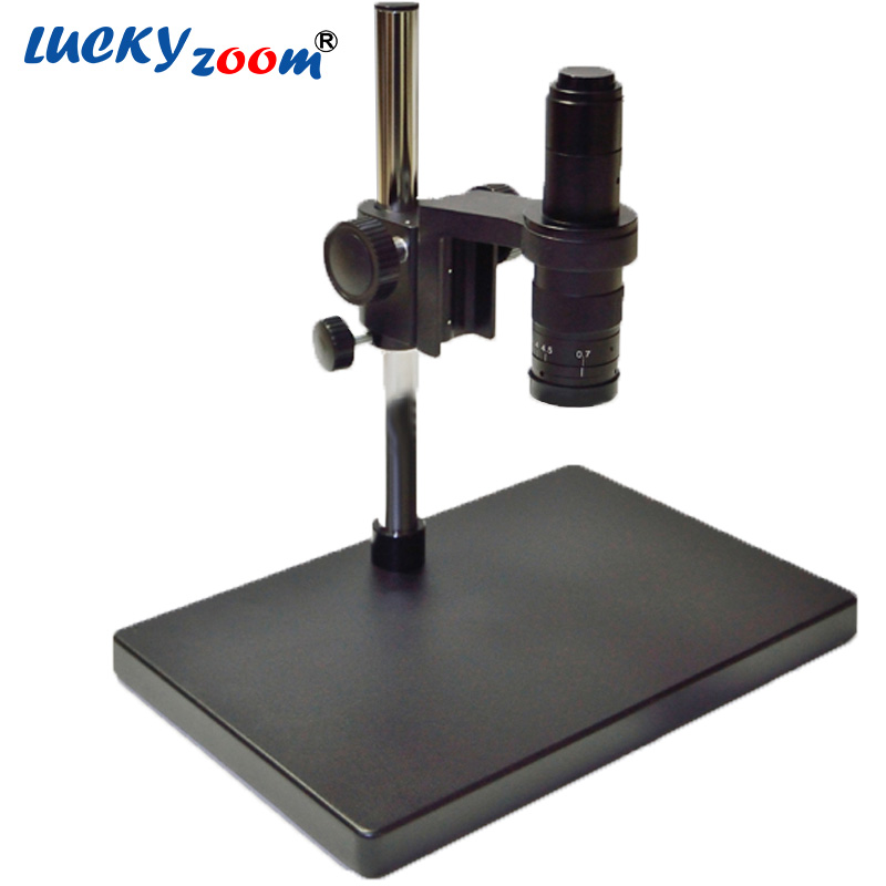 Lucky Zoom Brand Dual-arm Heavy Duty Boom Large Stereo Table Stand 180X C-MOUNT Lens PCB Lab Microscope Accessories  lucky zoom brand strong darticulating arm pillar clamp stand for stereo microscopes microscope accessories free shipping