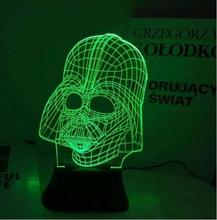 3D Color Changing Atmosphere Lamp Colorful LED Star Wars Skull Night Light,Best Gift Present