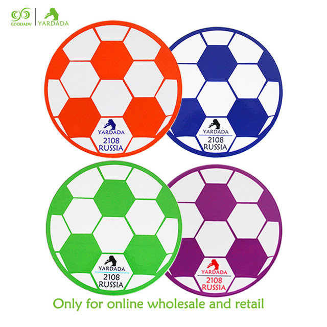 4pcs Set Wooden Kitchen Accessories Coffee Tables Placemat Bowl Dish Mat Football Shaped Round Fridge Mats In Stock For