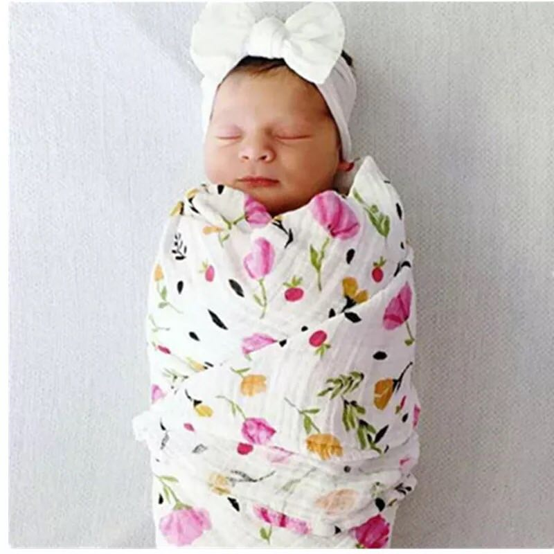 Muslin Blankets Bedding Bamboo Fiber Cotton Swaddle Multifunctional Envelopes For Newborns Receiving Blanket Baby Bath Towl
