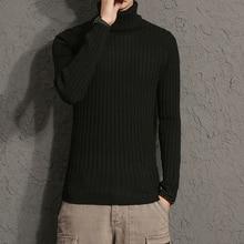 Winter Rollkragenpullover Männer Dünne Warme Pullover Dicken Elastischen Rollkragen Pullover Neue Männlich Dick Pullover Große Größe Winter Rollkragen