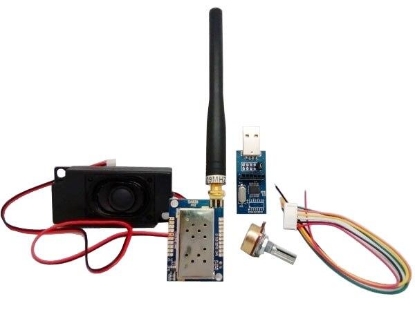 Kit de módulo de walkie talkie vhf todo en uno, transmisor VHF FM, 2 set/lote