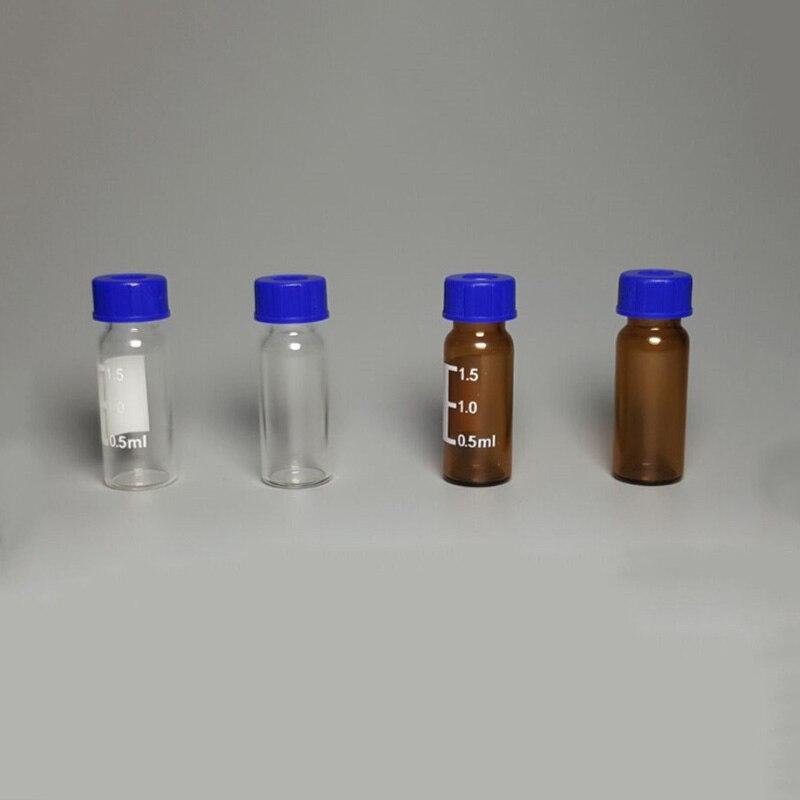 100pcs/lot 1.5ml/2ml Screw Liquid Chromatography Glass Sample Bottle HPLC Autosampler Headspace Vials
