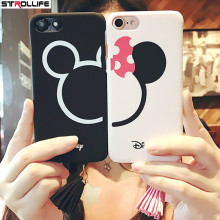 STROLLIFE Lovely Cartoon Mouse Ears Stars Tassels Pendant Hard Cover Couples Phone Cases For iPhone 7 7Plus 6 Plus 6s Capa Coque