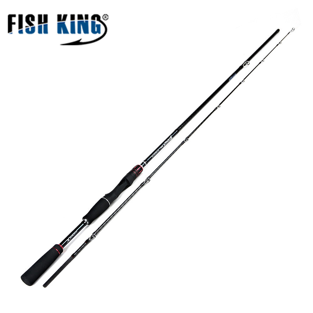 FISHKING Carp Fishing Rods 2 Sections 2.1M CW 10g-30g Lure Rod 99% Carbon Casting Fishing Rod